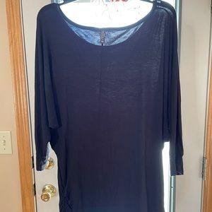 Women's Boat Neck 3/4 Sleeve Drape Dolman Shirt